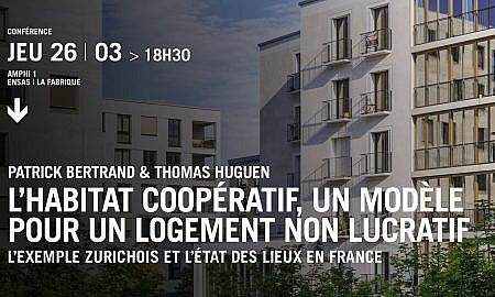 CONFERENCE «L'habitat coopératif, un modèle pour un logement non lucratif»