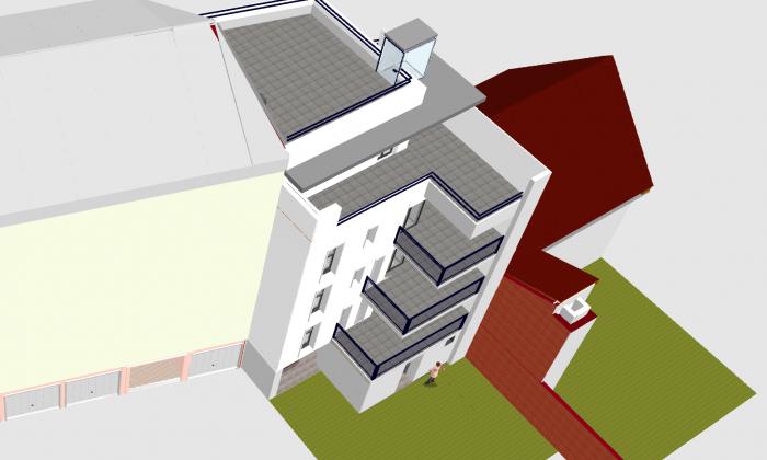 Duplex en attique de 68 m2 avec terrasse et jardin partagé plein Sud, au coeur de Cronenbourg